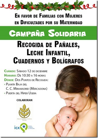 ICXP ORGANIZA UNA CAMPAÑA SOLIDARIA