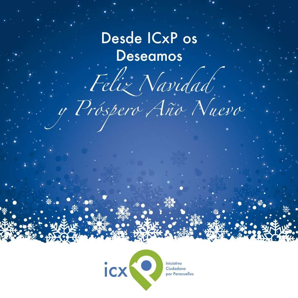 ICxP desea a todos los vecinos de Paracuellos Feliz Navidad y Próspero Año Nuevo.