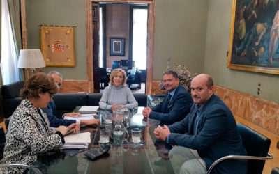 Reunión del alcalde y concejal de Seguridad de Paracuellos con la Delegada de Gobierno, Concepción Dancausa