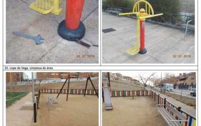 Actuaciones mensuales en parques infantiles